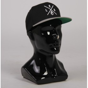 Кепка LES Classic Snapback BLACK/SILVER